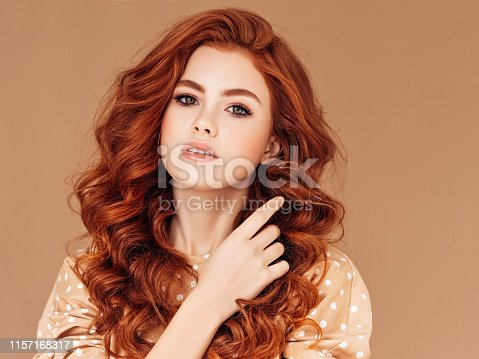 Beautiful woman with perfect hair