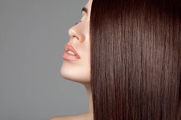 美しい女性、完璧な毛 - 人の髪 ストックフォトと画像