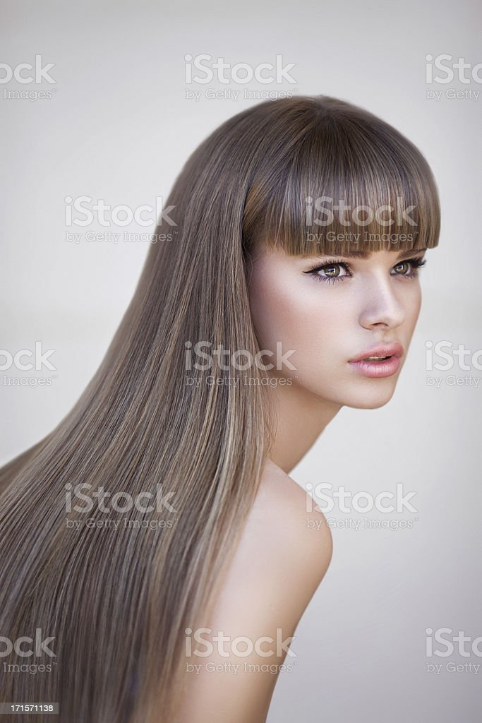 Beautiful woman with perfect hairs royalty-free stock photo