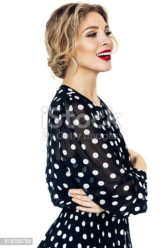 697916070istockphoto Beautiful woman with perfect hairstyle 918259758