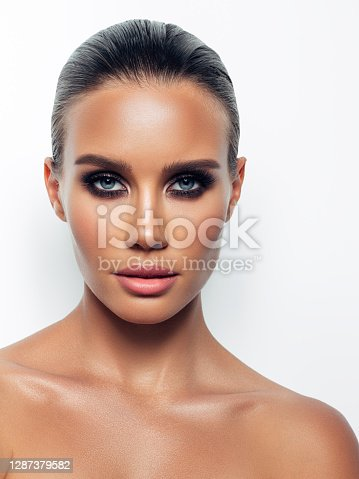 Beautiful woman with perfect make-up
