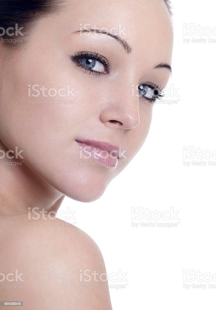 Schöne Frau mit perfekte Haut Lizenzfreies stock-foto