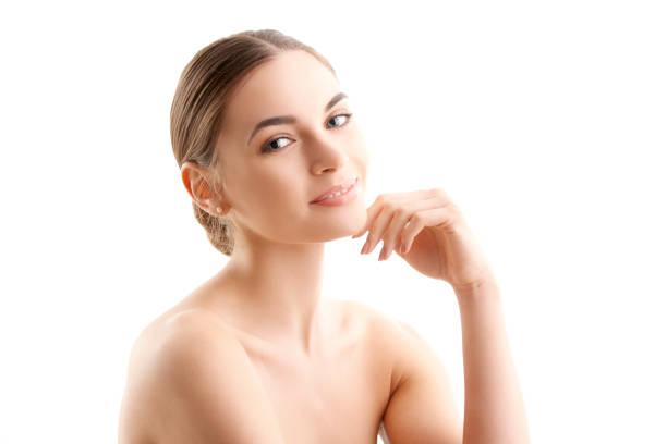 Schöne Frau mit perfekte Haut – Foto