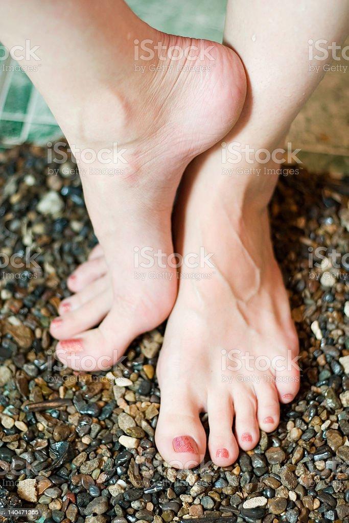 beautiful woman's feet royalty-free stock photo