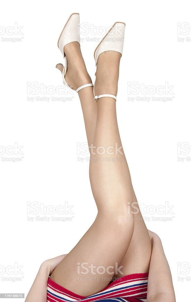 Beautiful woman's legs royalty-free stock photo