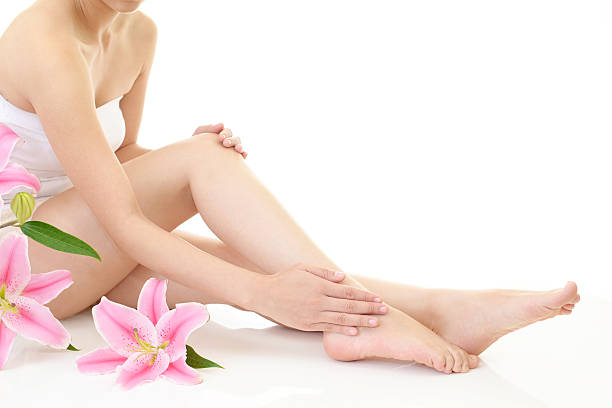 Beautiful woman's legs stock photo
