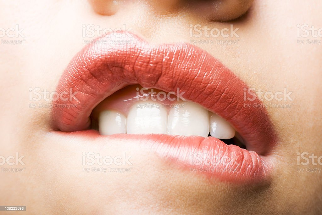 Beautiful woman's lips stock photo