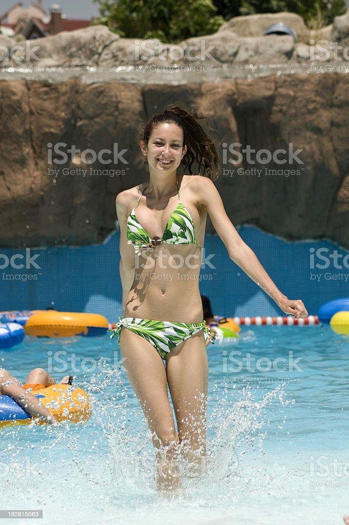 Beautiful women at Water Park royalty-free stock photo