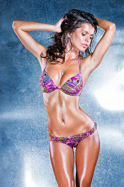 Beautiful women body in underclothes stock photo