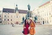 Best friends enjoying a day out in Vienna