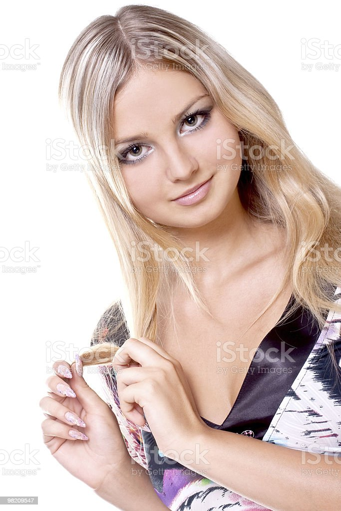beautiful women in a colored dress royalty-free stock photo