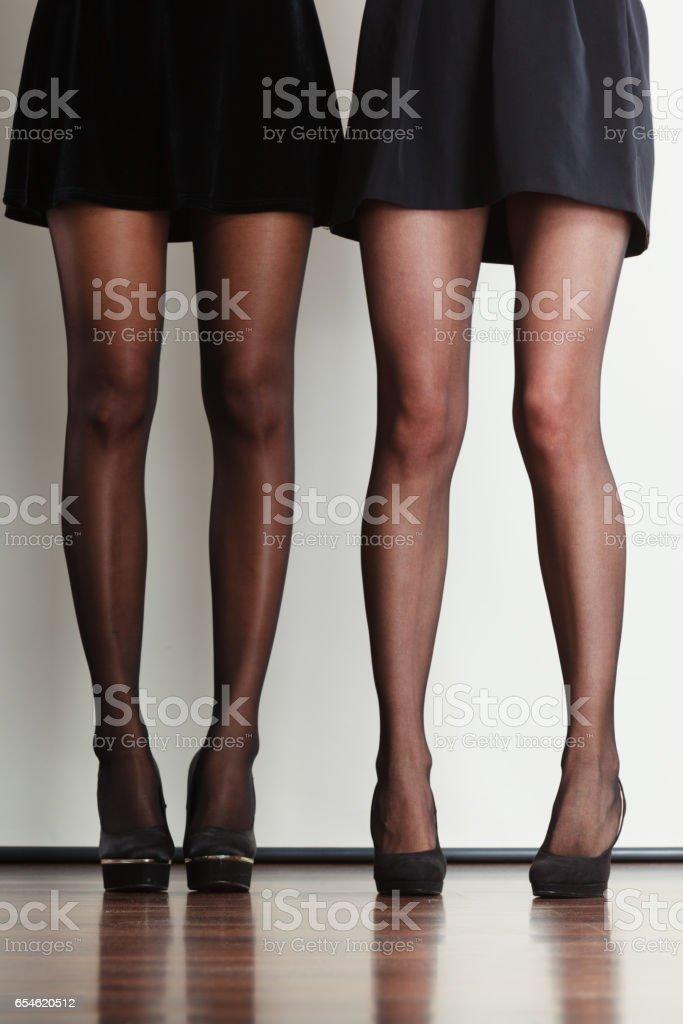 Beautiful women long legs. stock photo