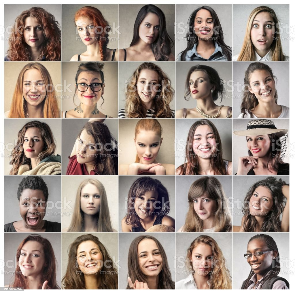 Beautiful women stock photo