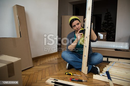 459373065 istock photo Beautiful women siting on the floor and measuring - Image 1095305506