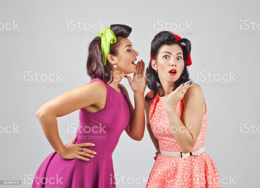 Beautiful women talking . stock photo