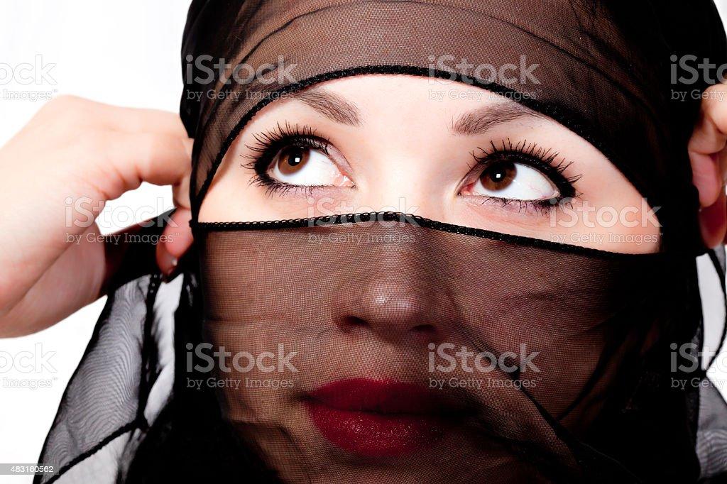 Beautiful women wearing a Hijab stock photo