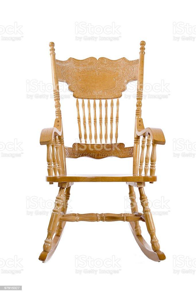 Beautiful wood rocking chair royalty-free stock photo