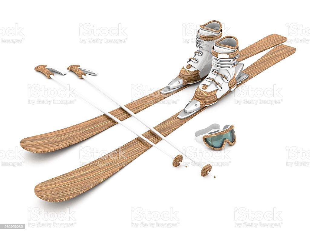Schöne Holz Skifahren – Foto