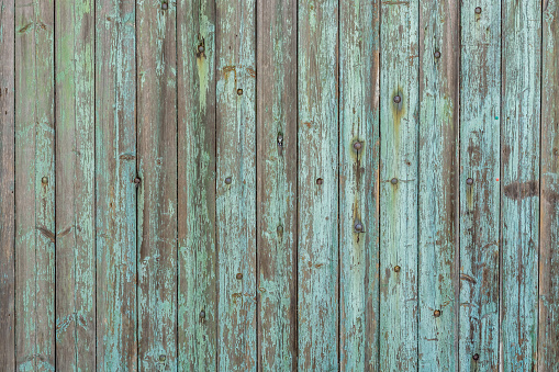 Beautiful wood texture from old wooden boards and weathered paint