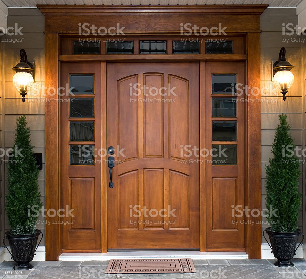 Beautiful Wooden Door stock photo