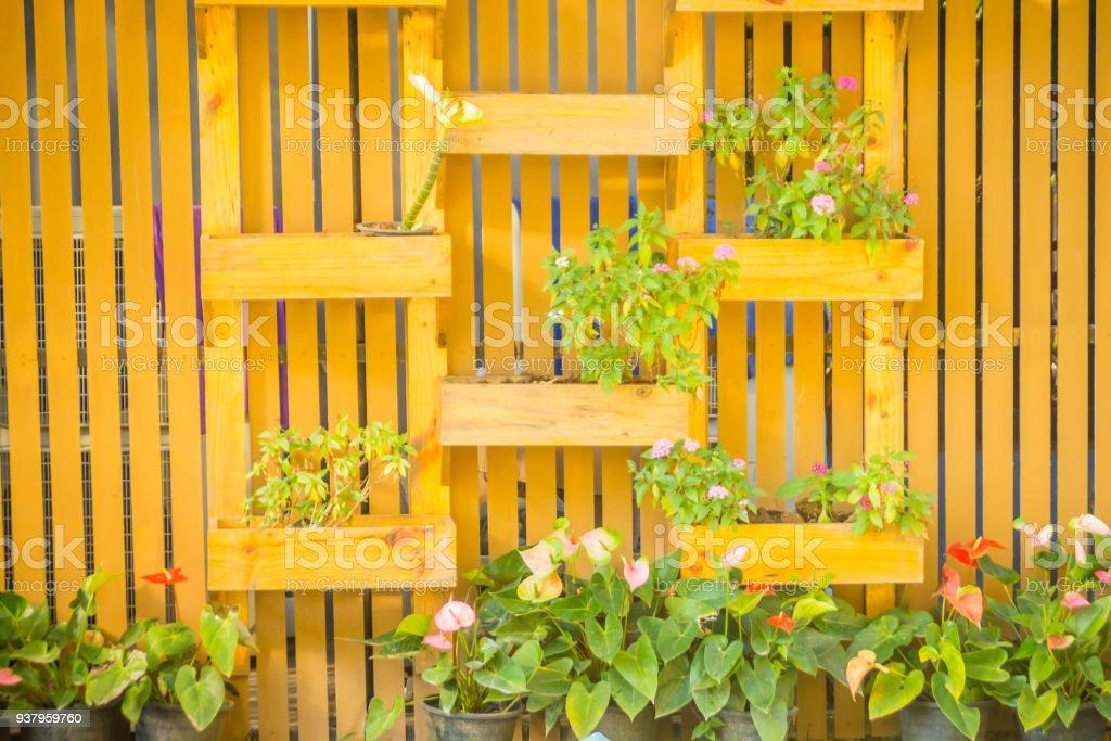 Photo Libre De Droit De Beau Bois Jardin Mur Vertical Avec