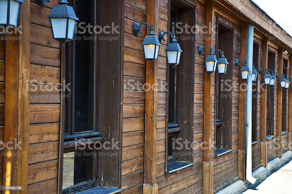 Beautiful Wooden windows royalty-free stock photo
