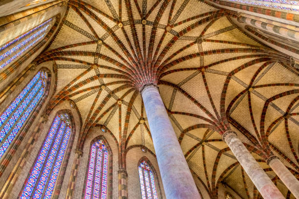 Schöne XIII Jahrhundert Kirche in Palme der Jakobiner in Toulouse, Frankreich. – Foto