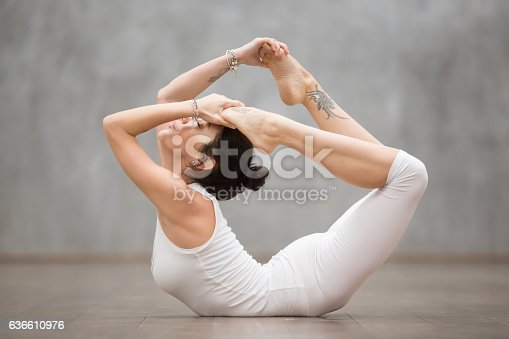 istock Beautiful Yoga: Bow pose 636610976