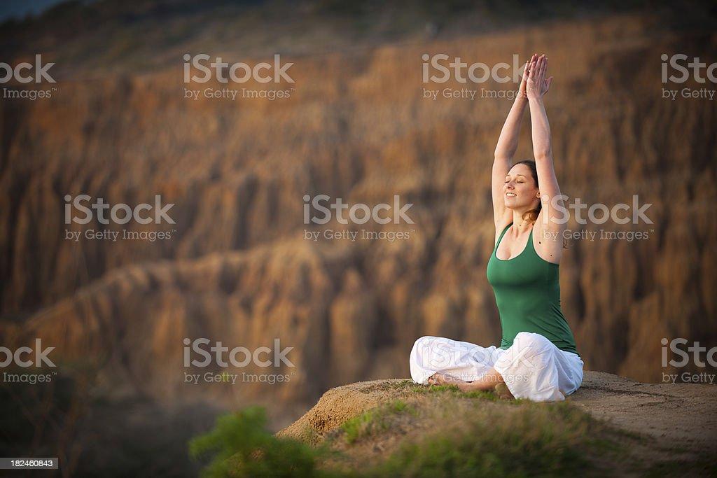 Bela de ioga foto royalty-free