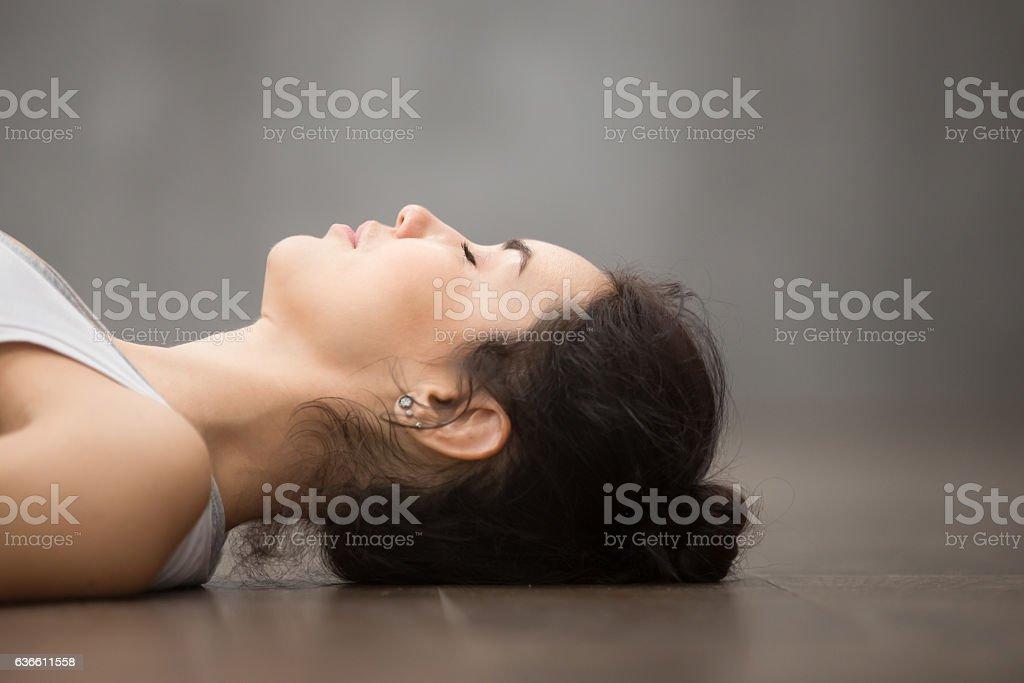 Beautiful Yoga: Savasana Pose stock photo