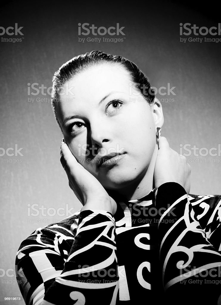 Beautiful yong russian woman royalty-free stock photo