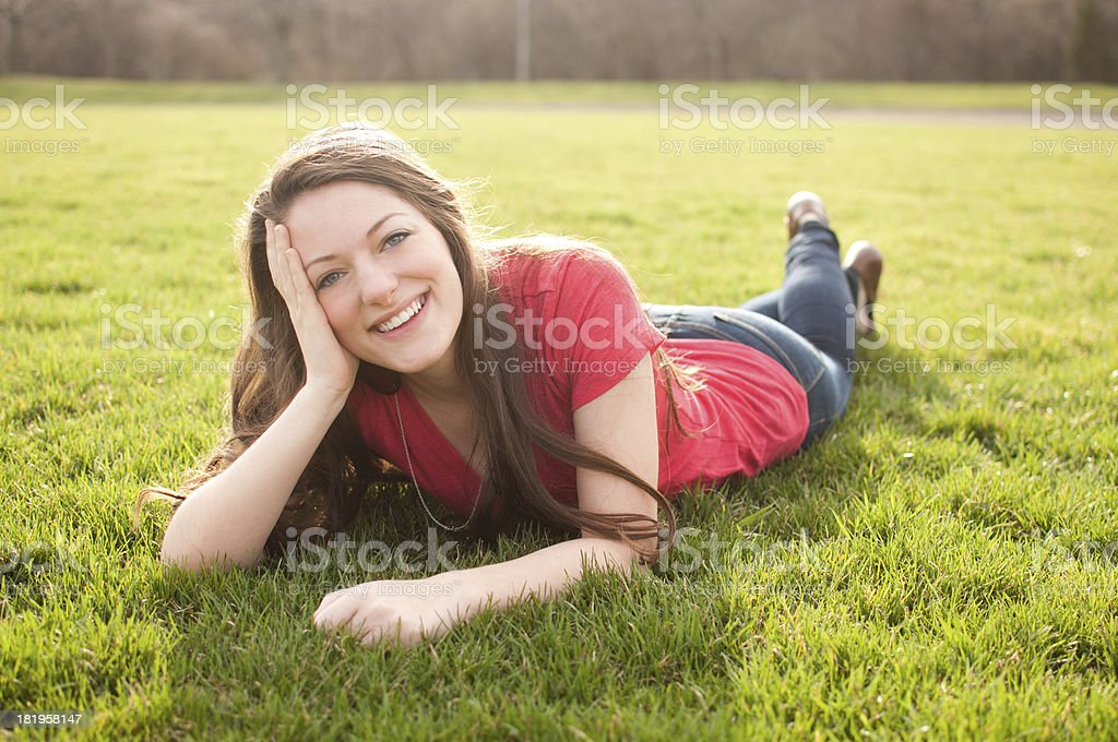Beautiful Young Adult in Spring royalty-free stock photo