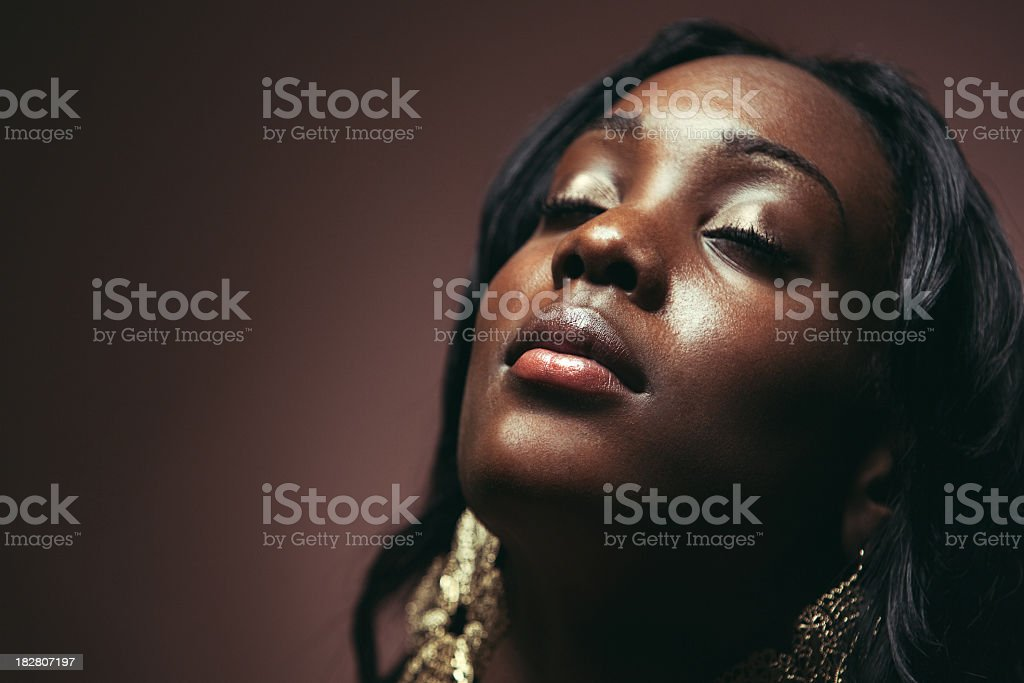 Beautiful Young African Woman stock photo