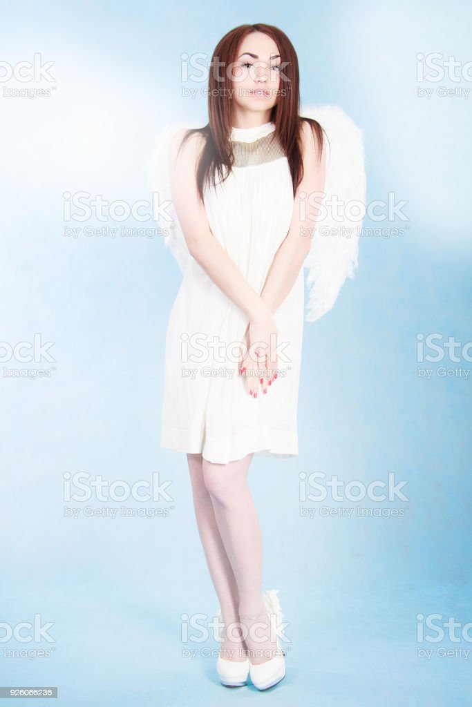 Beautiful young angel stock photo