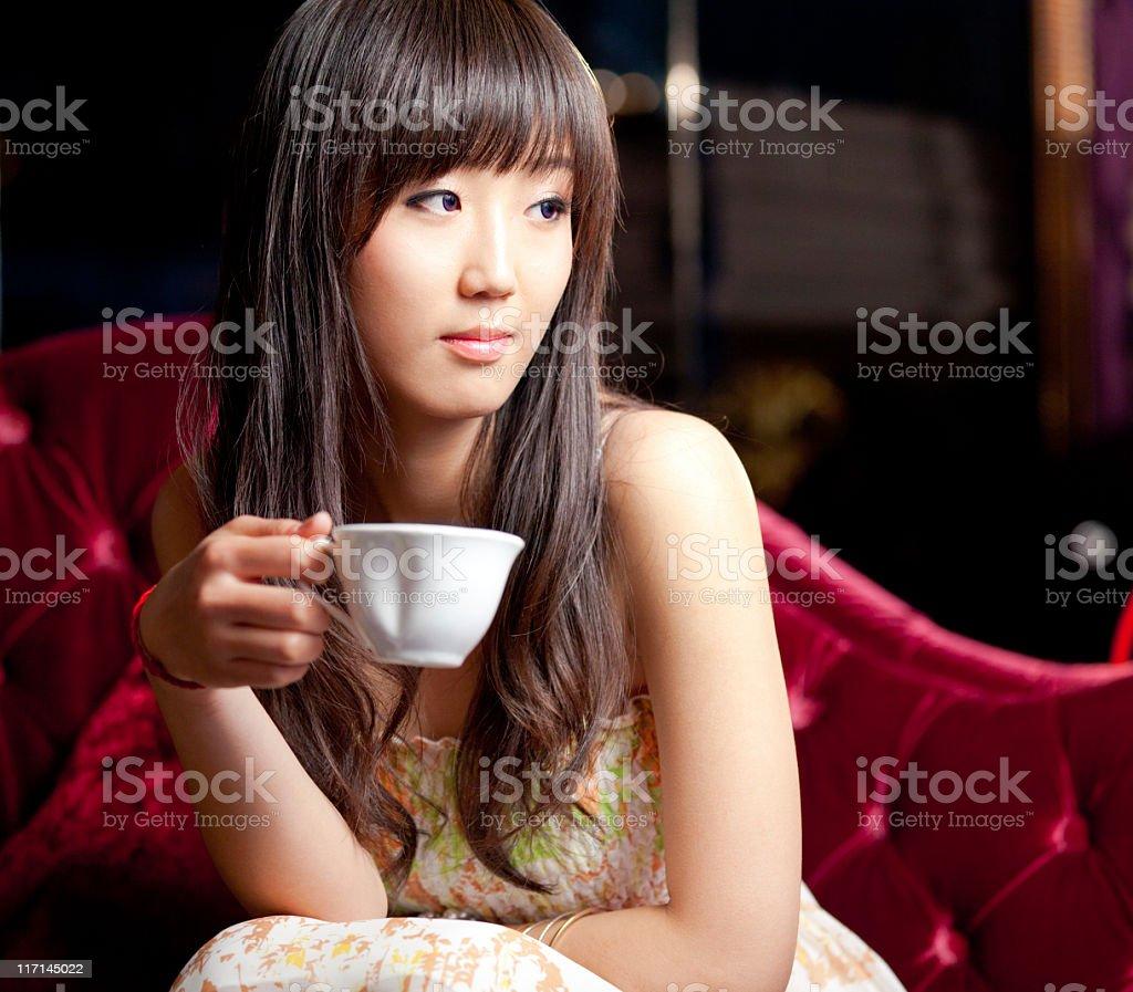 Beautiful young asian girl royalty-free stock photo