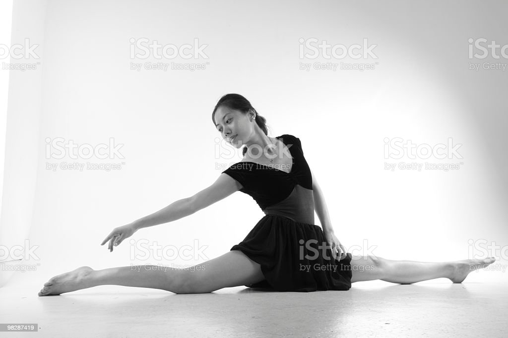 Beautiful young ballet dancer performing royalty-free stock photo