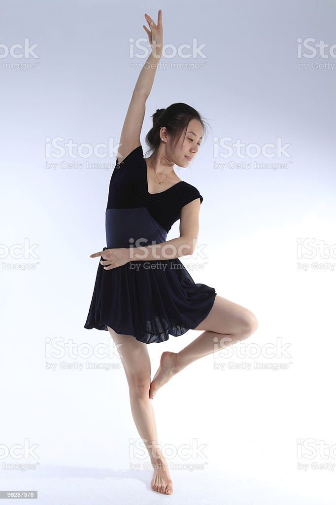 Beautiful young ballet dancer royalty-free stock photo