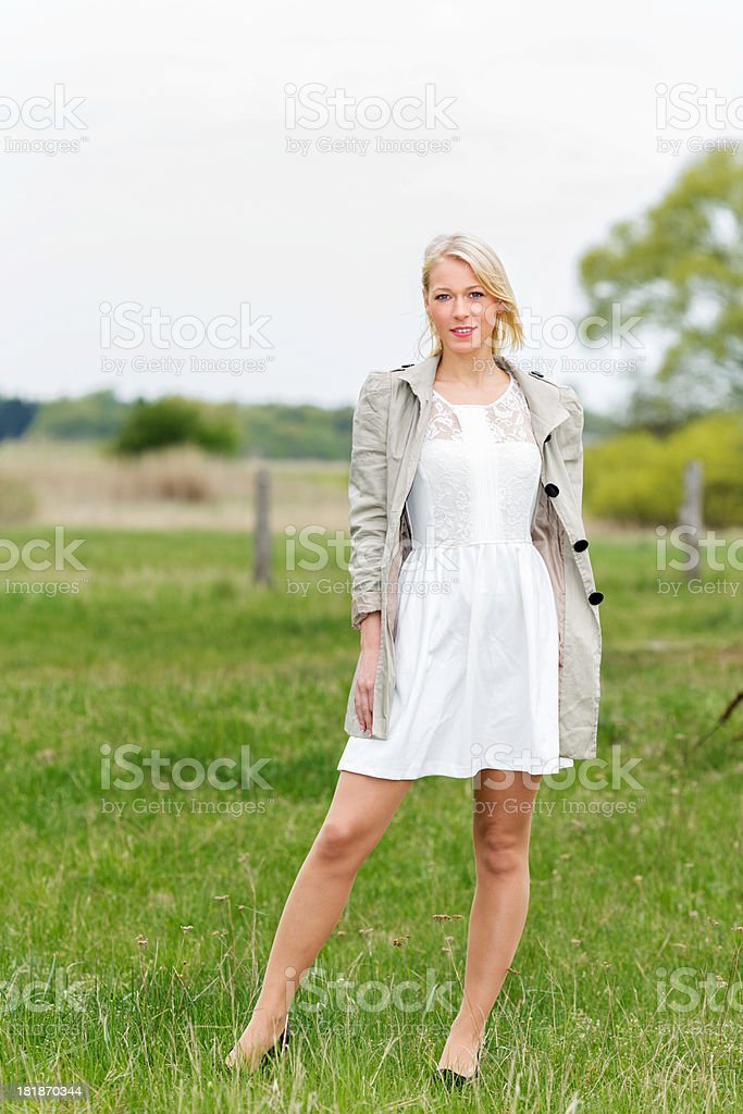 Beautiful young blond woman portrait royalty-free stock photo