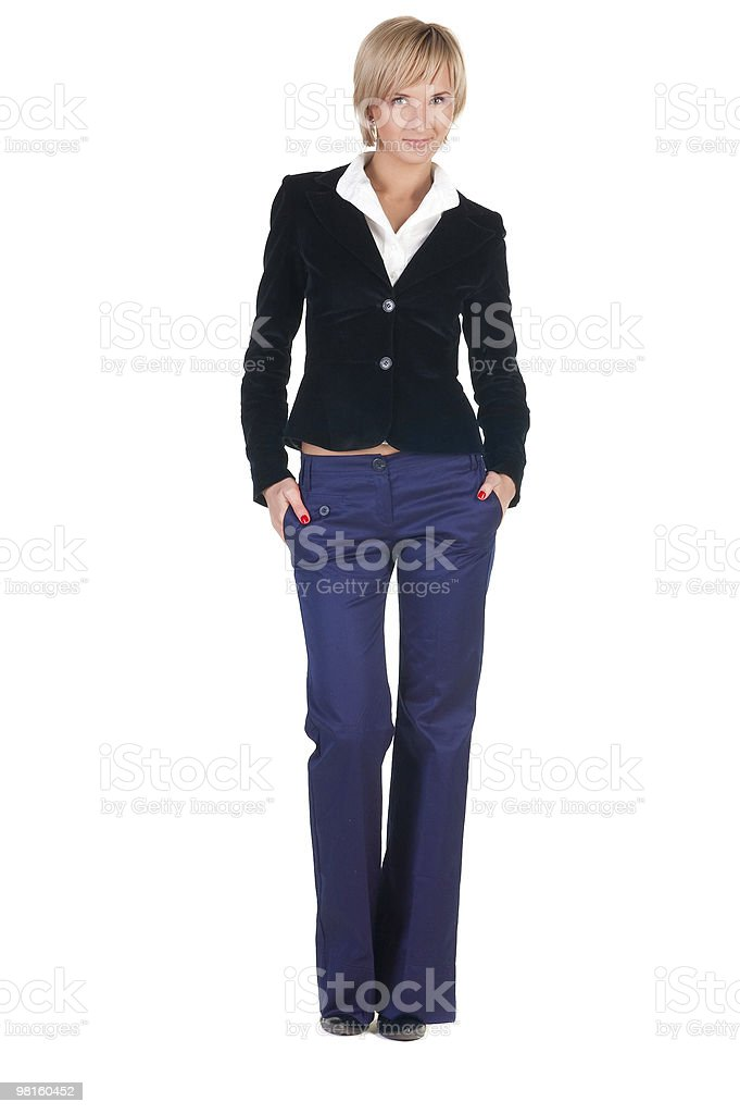 Beautiful young blonde businesswoman royalty-free stock photo
