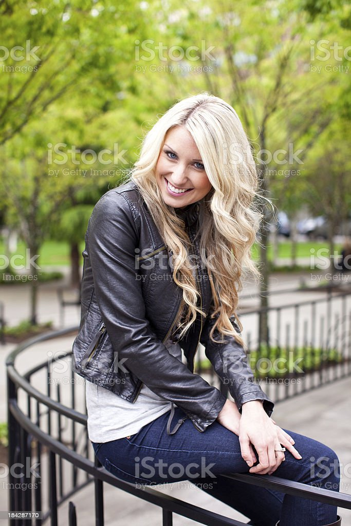 Beautiful young blonde woman royalty-free stock photo