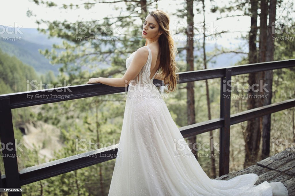 Beautiful young bride outdoors - Royalty-free 20-29 Years Stock Photo