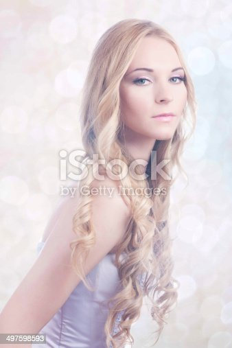 SONY DSCBeautiful young bride with pink make-up and ringlet wedding hairstyle