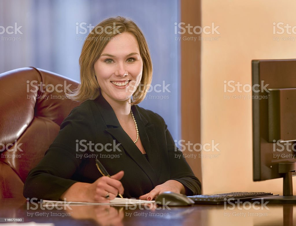 Beautiful Young Business Woman royalty-free stock photo
