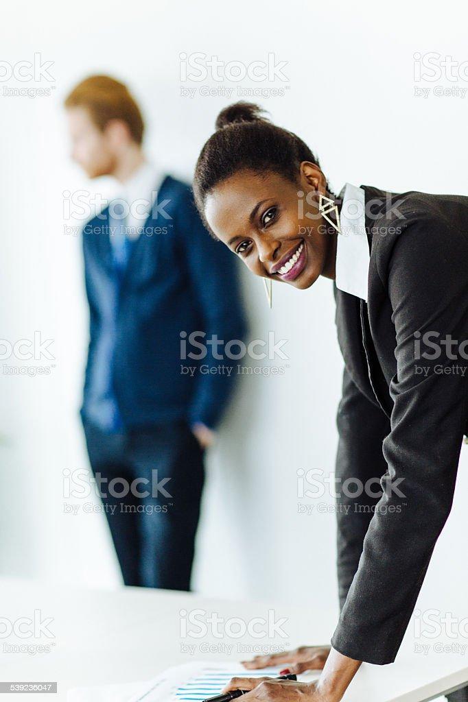Linda jovem Empresária foto royalty-free