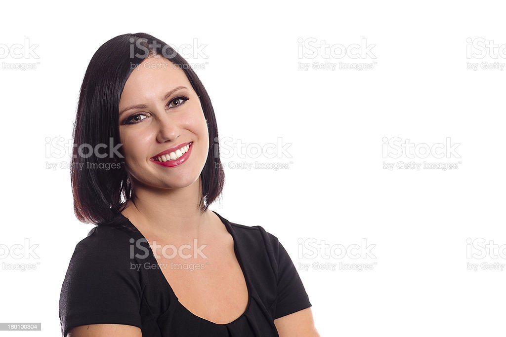 Beautiful young businesswoman portrait royalty-free stock photo