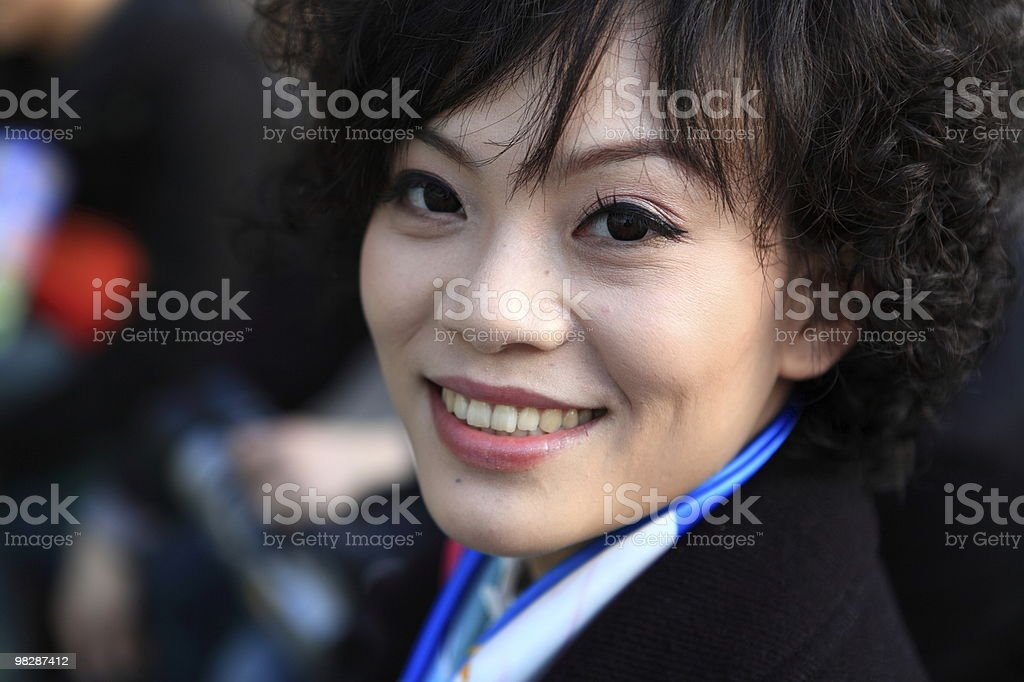 Beautiful young businesswoman smiling royalty-free stock photo