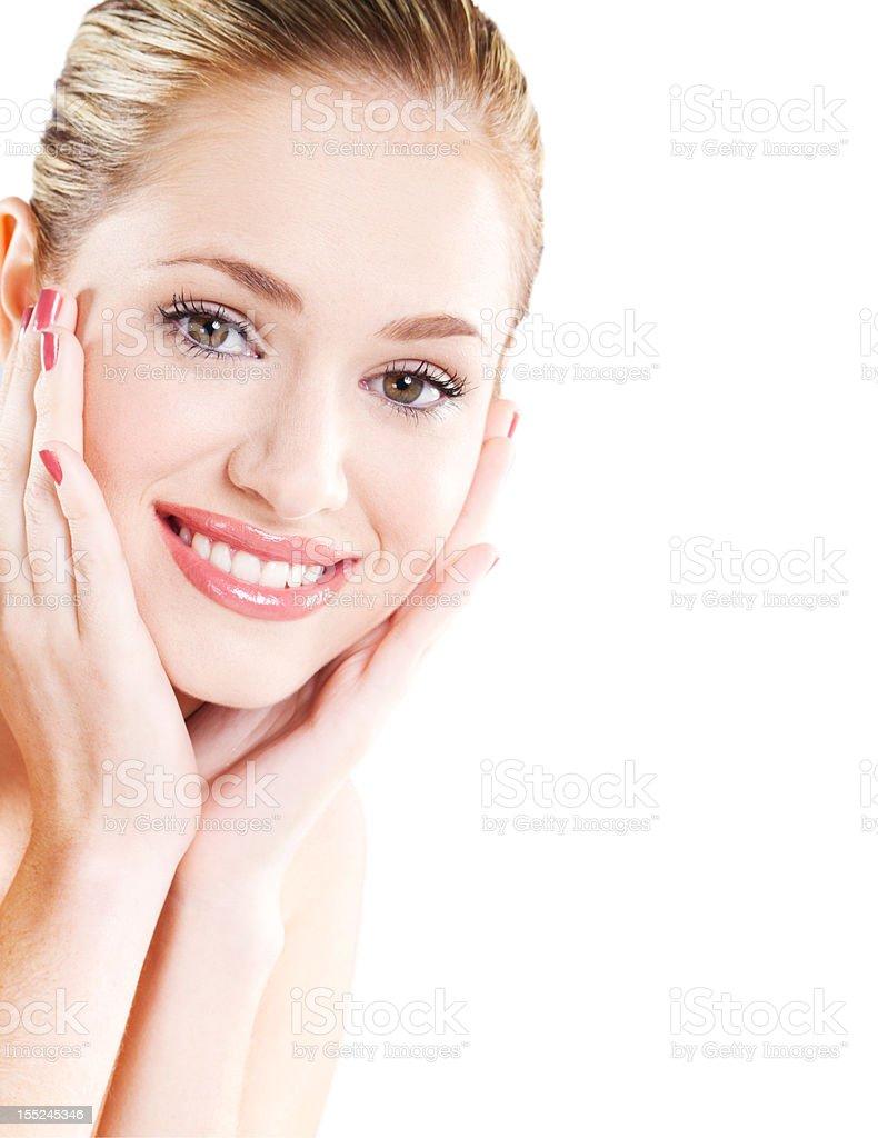 beautiful young caucasian woman portrait royalty-free stock photo