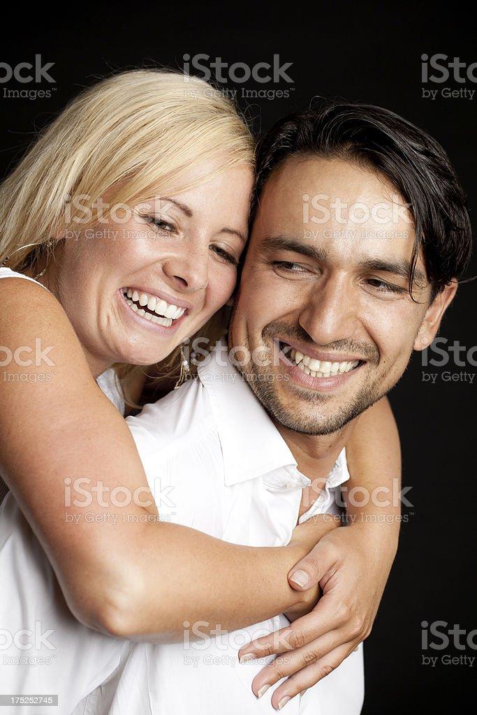 Beautiful young couple having fun royalty-free stock photo