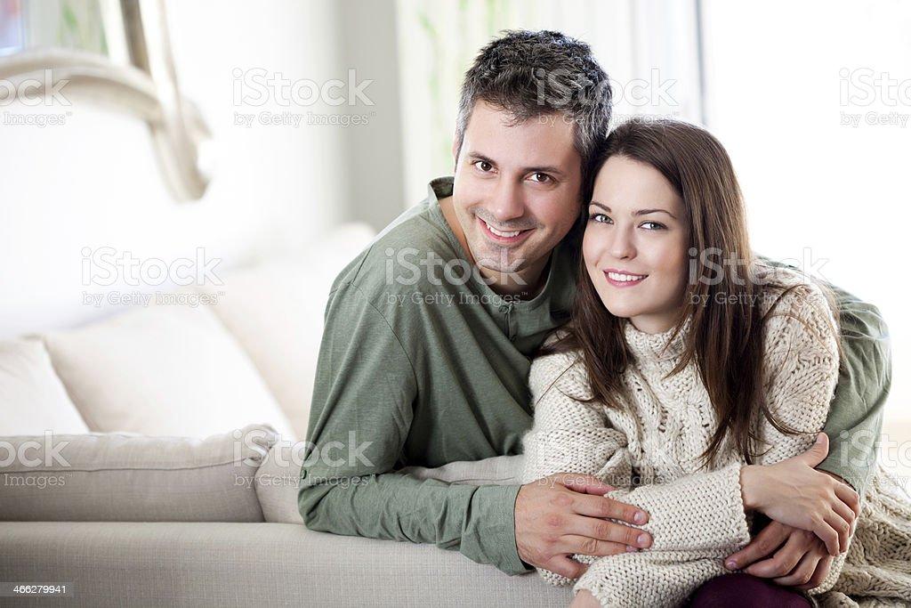 Beautiful young couple relaxing stock photo