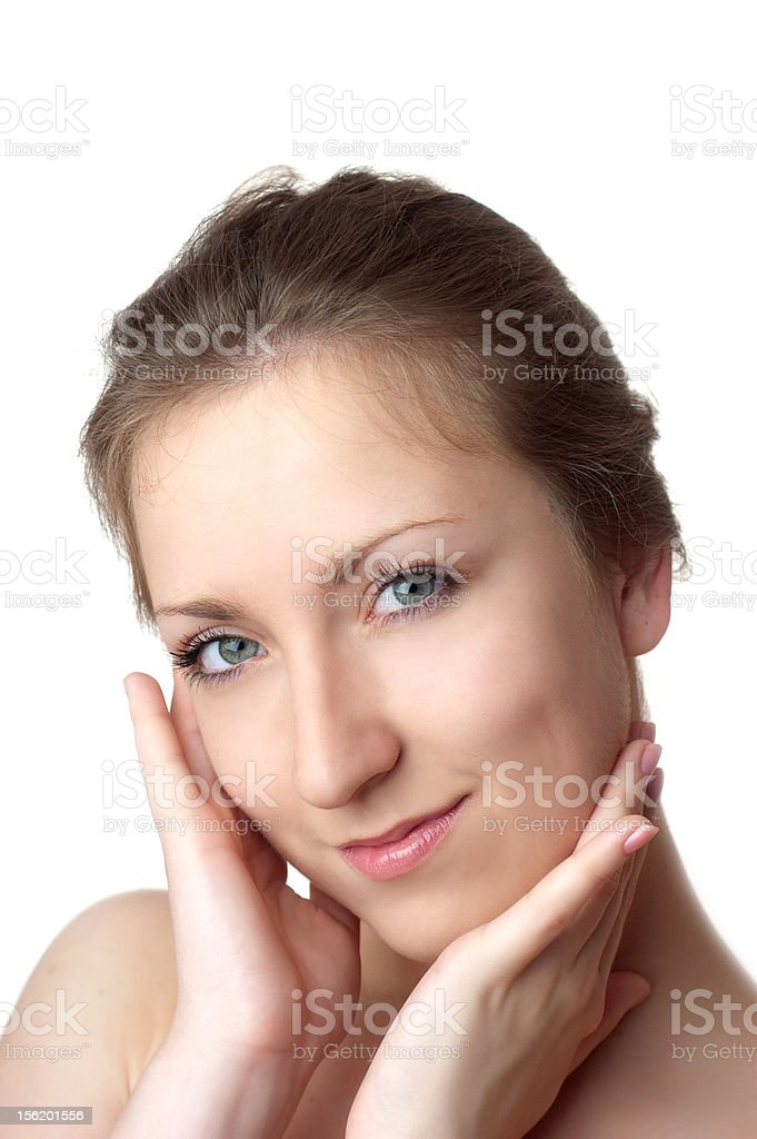 beautiful young face royalty-free stock photo